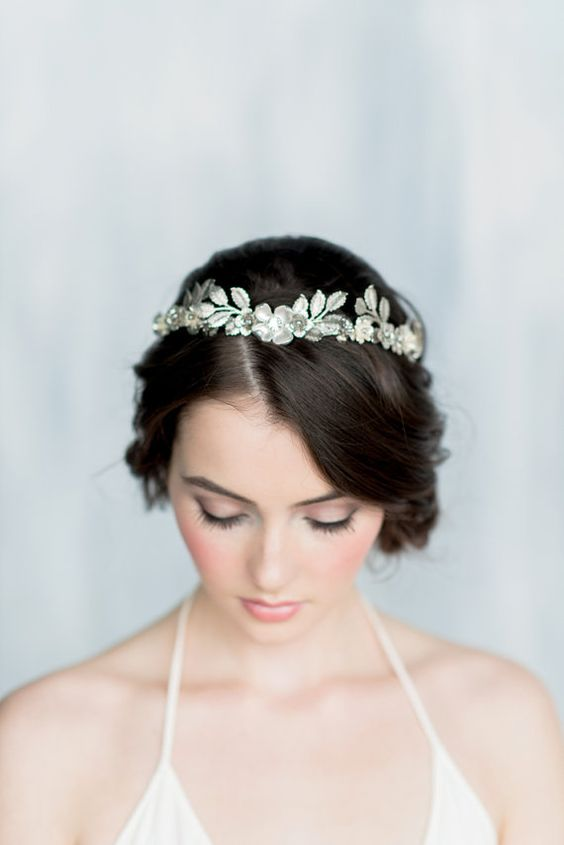 Lucy's Crown - Luxe ($209.52), found by Narniac: Silver Leaf Crown, Silver Crystal Crown, Leaf Crown, Floral Crown, Floral Tiara, Silver Tiara, Crystal Headpiece, Silver Leaf, Tiara, HELENA - Narnian Artifact Quest WINNER
